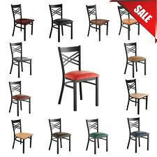 """""""Pick Your Color"""" Seating Cross Back Chair Seat Type Restaurant Light Weight New"""