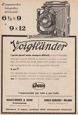 Z5208 Macchina fotografica Voigtlander - Pubblicità d'epoca - 1928 advertising