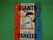 1962 World Series Program, San Francisco Giants & New York Yankees
