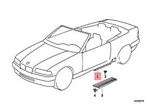 Genuine BMW Z3 E36 318i 320i 323i 325i Trim Panel Lower Right Black 51478165992