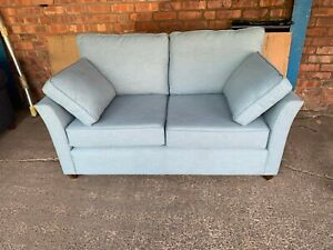 New WILLOW & HALL Elmley 2 seater Sofa  in Iceberg Linen  RRP£1100