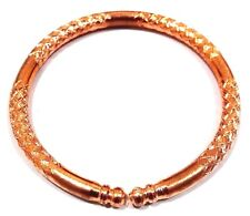 Designer Glossy Copper Bracelet Cuff Wristlet Wristband Bangle Jewelry Men Women