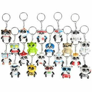12 Panda Animal Keychains Fun Party Favor Toy Birthday Cute Novelty Gift Prize