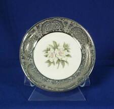Royal Cathay China Silver Gardenia Pattern White Rimmed Fruit Bowl bfe1702