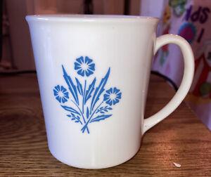 Vintage Corning Ware USA Coffee Cup Mug Cornflower ,RARE & Nice Condition