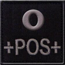 ECUSSON O+ NOIR GROUPE SANGUIN O POS POSITIF INSIGNE PATCH SECOURISTE MEDICAL LS