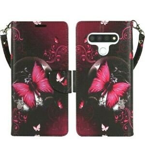 For LG K51 / Reflect, PU Leather Design Wallet Phone Case Cover Flip Stand Strap