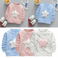 Toddler Baby Kids Boy Girls Star Printed Long Sleeve T-shirt Top Outfits Clothes
