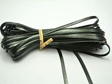 32.8 Feet Black FLAT Korean Waxed Textured Cord Craft Lace String 4X1mm