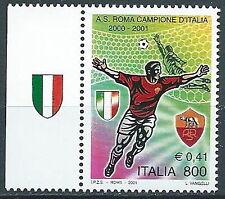 2001 ITALIA ROMA CAMPIONE D'ITALIA CALCIO MNH ** - ED-3