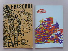 Two Exhibit Catalogs for Antonio Frasconi w/Original Woodblock Covers,1952/ 1963