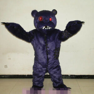 Birthday Intimidating Bear Mascot Costume Suit Cosplay Carnival Adult Christmas@