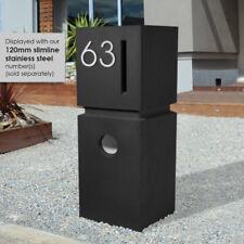 SALE - Sandstone BLACK RIDGE Letterbox MODERN DESIGN MAILBOX HEAVY PILLAR