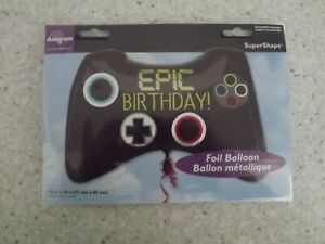 EPIC BIRTHDAY XL FOIL BALLOON 28IN 71CM COMPUTER CONTROLLER VIDEO GAME GAMING