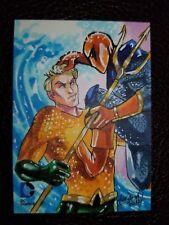 Aquaman 2014 DC Epic Battles Stacey Kardash 1/1 Sketch Card Cryptozoic