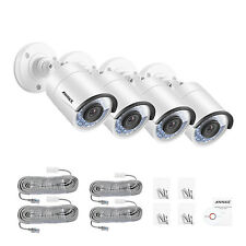 ANNKE 4pcs 960P 1.3MP PoE In/Outdoor Security IP Camera IR Night Vision Cams