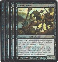 TCG 50 MtG Magic the Gathering Earwig Squad Pre Release Promo Foil Playset (4)