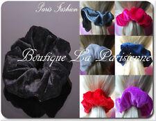 XL Haargummi Haarband Zopfband  Zopfgummi Velour Samt Stoff 26 Farben 13cm Paris