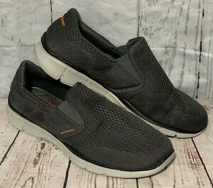 Skechers Men's Equalizer Double Play 51509 CCOR Slip-On Charcoal Shoes Size10.5