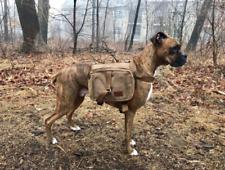 Canvas Dog Hiking Pack Hound Travel Camping Hiking Backpack Saddle Bag Rucksacks
