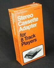 Vintage Stereo Cassette Adaptor For Car 8 Track Tape Radio Shack Unused