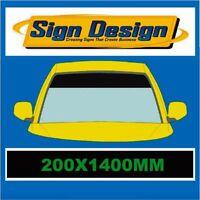 MATT BLACK WINDSCREEN SUNSTRIP-SUNVISOR  1400mm x 200mm CAR  STICKERS DECALS