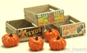 Cargo-To-Go: Vintage Fruit Crates and Pumpkin Set