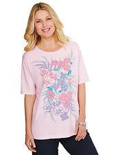 Cotton Floral Plus Size Tops & Shirts for Women