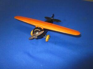 Vintage 1920's Wyandotte Pressed Steel Small Toy Airplane
