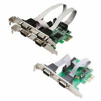PCI-E Express to DB9 RS232 RS-232 Serial 4 Port 2 Port expansion Controller Card