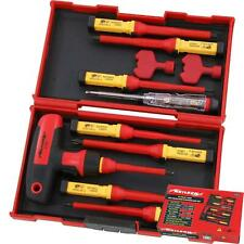 Neilsen 12pc Vde Insulated T Bar Pozi Flat Slotted Magnetic Tip Screwdriver Set