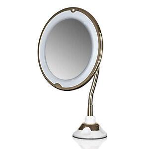 GNTM LED Kosmetikspiegel Saugnapf 5x Vergrößerung Schminkspiegel beleuchtet rund
