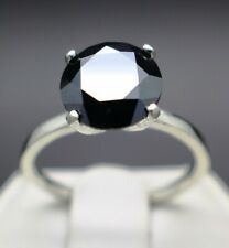 1.50cts to 3.25cts Real Natural Black Diamond Engagement Ring & $950 Value +