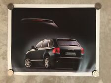 2004 Porsche Cayenne S Showroom Advertising Sales Poster RARE!! Awesome L@@K VG