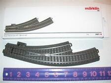 HO - Marklin 24671 C-Track LH R1 Manual Curve Switch - Manufacturer Brand New