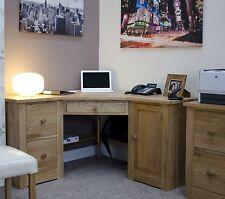 Vermont solid oak furniture office corner PC computer desk