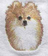 POMERANIAN EMBROIDER SET 2 BATHROOM HAND TOWEL by laura