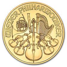 1/4 oz Gold Austrian Philharmonic Coin - Random Year - SKU #11176