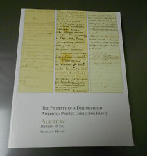 2012 Profiles in History Private HISTORICAL DOCUMENT Auction Catalog 314 pgs VF+