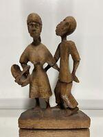 VTG. Hand Carved Wood Folk Art Primitive Sculpture Statue