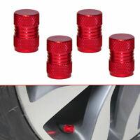 Red 4Pcs Car Auto Tyre Rim Valve Wheel Stem Air Port Dust Caps Cover Accessories