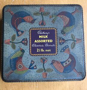 Vintage Cadbury's Milk Assorted Chocolate Biscuits Tin 2.5lb net. Oriental Birds