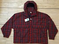 $175 MSRP Nike Plaid Striped Red USA Jacket CD6375-657 Men's Size XL
