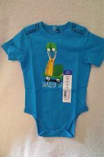 Okie Dokie Baby Boy Bodysuit Size 9 Months Blue Said Snalted It! Cotton New