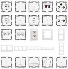 Unterputz Schalter Steckdosen Programm Karea weiß UP - selbst zusammenstellen !