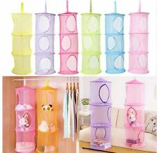 Collapsible Netted Storage Netted Bag Stuffed Toy Clothing Organizer Holder Rack