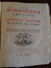 Belidor, Le Bombardier François, Militaria 1734 illustré