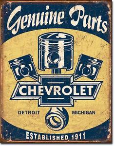 Chevrolet Schild Poster classic Emblem US-Car Garage Parts Deko Werkstatt *078