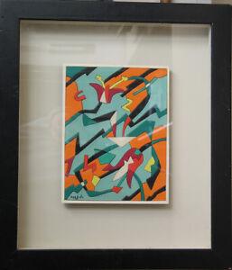 """Ugo NESPOLO, Bozzetto su cartone, 1975 cm. 22x16,5 """"Rapporti vegetali"""""""