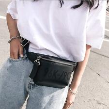2018 PU Leather black Waist Bags Women Designer Fanny Pack Fashion Belt Bag